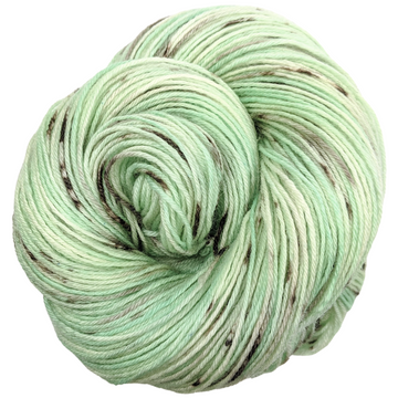 Knitcircus Yarns: Mint Chocolate Chip 100g Speckled Handpaint skein, Breathtaking BFL, ready to ship yarn