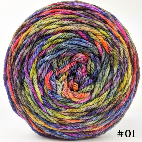 Knitcircus Yarns: Big Top Birthday 100g Abstract, Ringmaster, choose your cake, ready to ship yarn