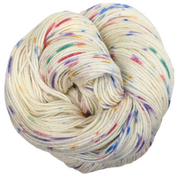 Knitcircus Yarns: Over the Rainbow 100g Speckled Handpaint skein, Parasol, ready to ship yarn