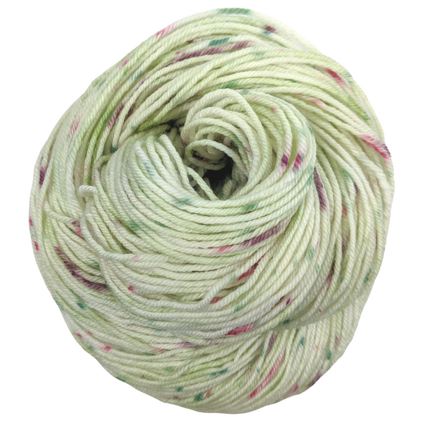 Knitcircus Yarns: Sleigh Ride 100g Speckled Handpaint skein, Divine, ready to ship yarn