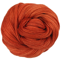 Knitcircus Yarns: Rhymes With Orange 100g Kettle-Dyed Semi-Solid skein, Breathtaking BFL, ready to ship yarn