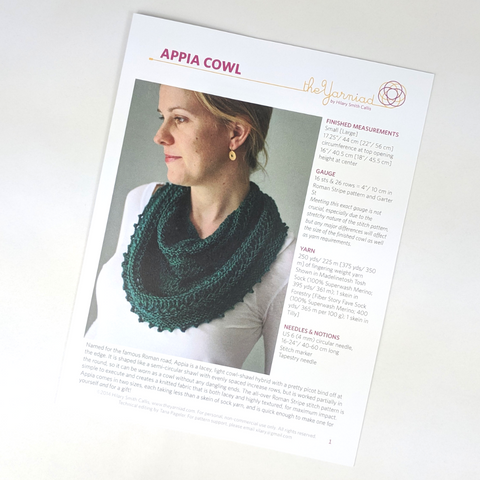 Pattern - Appia, by Hilary Smith Callis, ready to ship