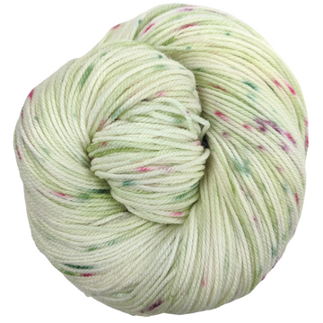Knitcircus Yarns: Sleigh Ride 100g Speckled Handpaint skein, Flying Trapeze, ready to ship yarn