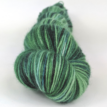 Knitcircus Yarns: Mister Grinch 100g Speckled Handpaint skein, Breathtaking BFL, ready to ship yarn