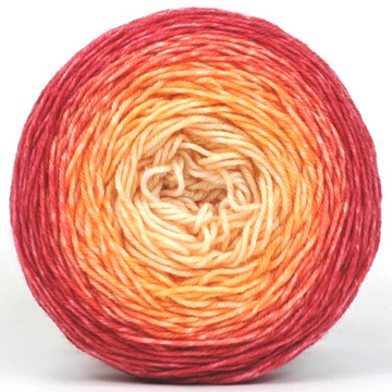 Knitcircus Yarns: Peachy Keen 100g Panoramic Gradient, Greatest of Ease, ready to ship yarn