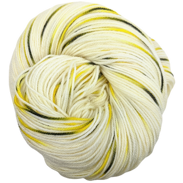 Knitcircus Yarns: Flight of the Bumblebee 100g Speckled Handpaint skein, Flying Trapeze, ready to ship yarn