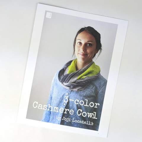 Pattern - 3 Color Cashmere Cowl, by Joji Locatelli, ready to ship