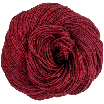 Knitcircus Yarns: Cranberry Sauce 100g Kettle-Dyed Semi-Solid skein, Greatest of Ease, ready to ship yarn
