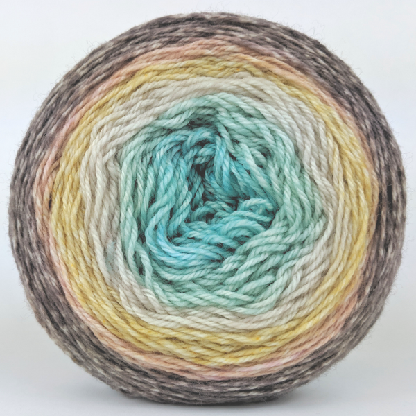Knitcircus Yarns: Home on the Range 100g Panoramic Gradient, Flying Trapeze, ready to ship yarn