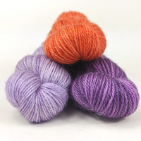 Knitcircus Yarns: Bundle of Three 50g Kettle-Dyed Semi-Solid skeins, Opulence, ready to ship yarn