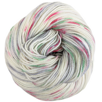 Knitcircus Yarns: Tis the Season 100g Speckled Handpaint skein, Flying Trapeze, ready to ship yarn