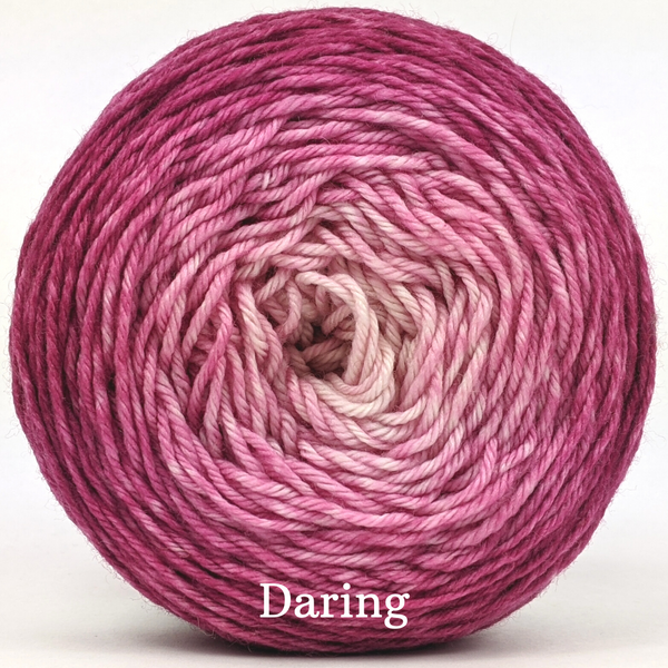 Knitcircus Yarns: A Rose by Any Other Name Chromatic Gradient, dyed to order yarn