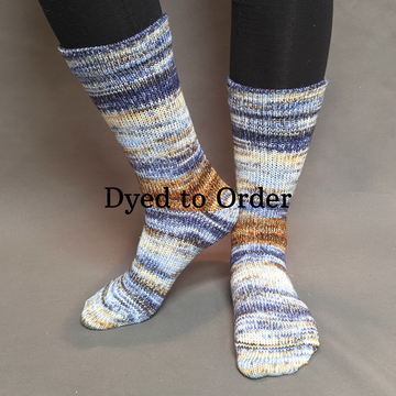 Knitcircus Yarns: Hundred Acre Wood Modernist Matching Socks Set, dyed to order yarn