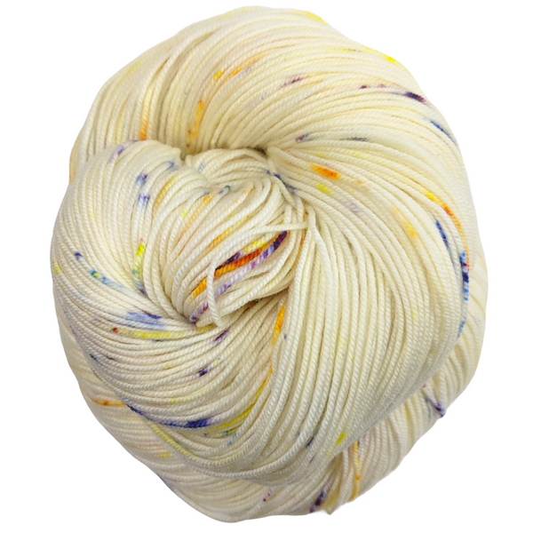 Knitcircus Yarns: Busy Bee 100g Speckled Handpaint skein, Trampoline, ready to ship yarn