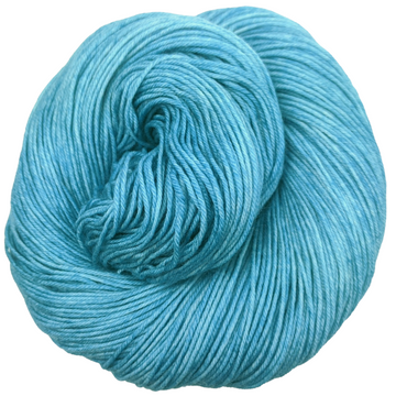 Knitcircus Yarns: Blue Agave 100g Kettle-Dyed Semi-Solid skein, Greatest of Ease, ready to ship yarn
