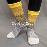 Brass and Steam Panoramic Gradient Matching Socks Set, dyed to order
