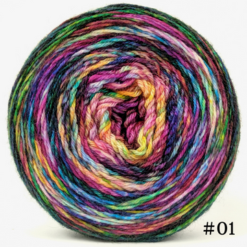 Knitcircus Yarns: Paint the Town 100g Modernist, Breathtaking BFL, choose your cake, ready to ship yarn