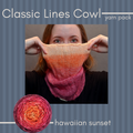 Classic Lines Cowl Yarn Pack, pattern not included, ready to ship