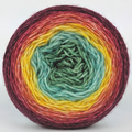 Knitcircus Yarns: Goblet of Fire 100g Panoramic Gradient, Breathtaking BFL, ready to ship yarn - SALE