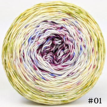 Knitcircus Yarns: Happy Happy Joy Joy 150g Impressionist Gradient, Trampoline, choose your cake, ready to ship yarn