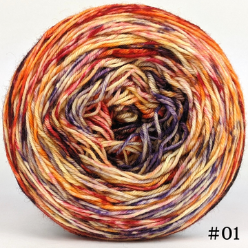 Knitcircus Yarns: En Fuego 100g Modernist, Greatest of Ease, choose your cake, ready to ship yarn
