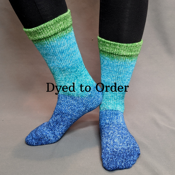 Knitcircus Yarns: Dive Right In Panoramic Gradient Matching Socks Set, dyed to order yarn