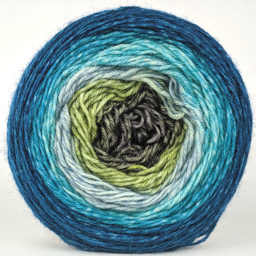 Knitcircus Yarns: Thanks For All The Fish 100g Panoramic Gradient, Breathtaking BFL, ready to ship yarn