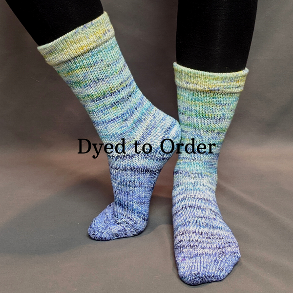 Knitcircus Yarns: You Are My Sunshine Impressionist Gradient Matching Socks Set, dyed to order yarn