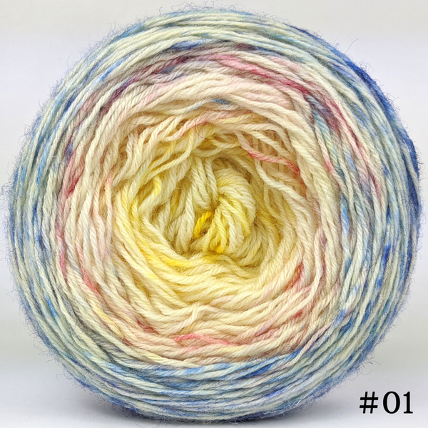Knitcircus Yarns: Bundle of Joy 100g Impressionist Gradient, Breathtaking BFL, choose your cake, ready to ship yarn