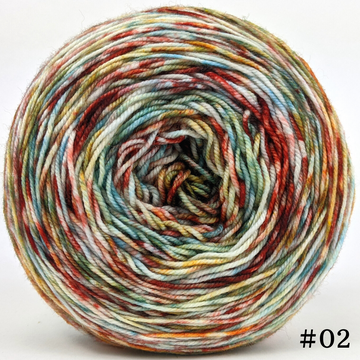 Knitcircus Yarns: Harvest Moon 100g Modernist, Trampoline, choose your cake, ready to ship yarn