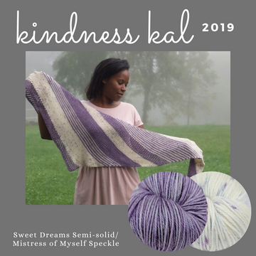 Kindness KAL 2019 Shawl Kit, ready to ship