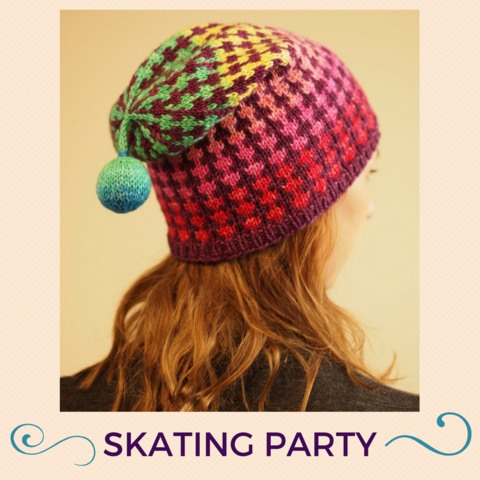 Skating Party Hat Kit in Cindy Lou Who/Too Sexy For This Song, Magnificent, ready to ship