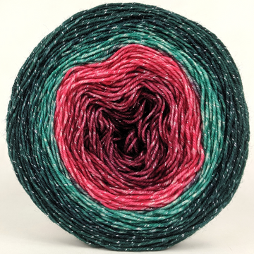 Knitcircus Yarns: Deck The Halls 100g Panoramic Gradient, Sparkle, ready to ship yarn