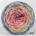 Knitcircus Yarns: Easy Peasy Lemon Squeezy 100g Impressionist Gradient, Flying Trapeze, choose your cake, ready to ship yarn