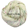 Knitcircus Yarns: Sleigh Ride Speckled Handpaint Skeins, dyed to order yarn