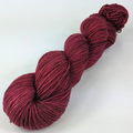 Knitcircus Yarns: Cranberry Sauce Kettle-Dyed Semi-Solid skeins, dyed to order yarn