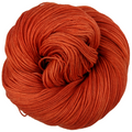Knitcircus Yarns: Rhymes With Orange 100g Kettle-Dyed Semi-Solid skein, Flying Trapeze, ready to ship yarn