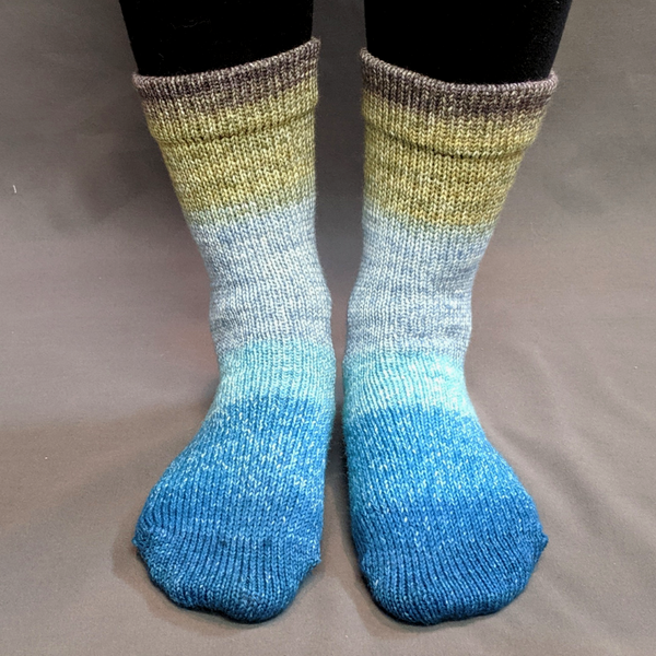 Knitcircus Yarns: Thanks For All The Fish Panoramic Gradient Matching Socks Set, dyed to order yarn