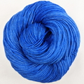 Knitcircus Yarns: Blue Radley 100g Kettle-Dyed Semi-Solid skein, Greatest of Ease, ready to ship yarn