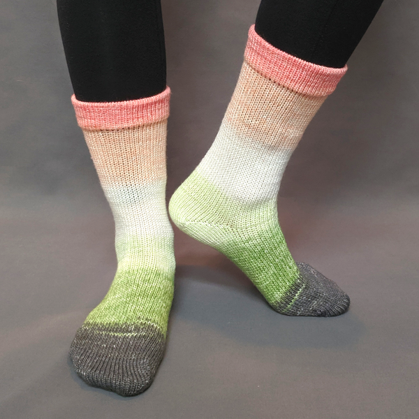 Knitcircus Yarns: On a Roll Panoramic Gradient Matching Socks Set (medium), Greatest of Ease, ready to ship yarn