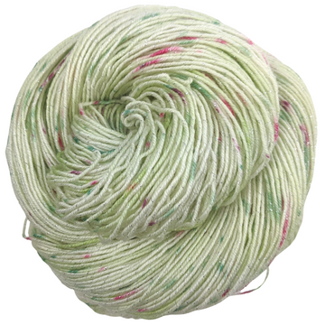 Knitcircus Yarns: Sleigh Ride 100g Speckled Handpaint skein, Sparkle, ready to ship yarn