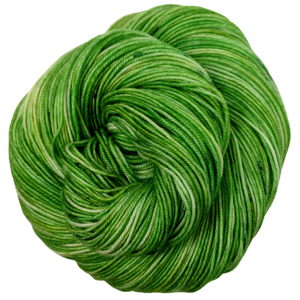 Knitcircus Yarns: Lucky Charm 100g Speckled Handpaint skein, Trampoline, ready to ship yarn