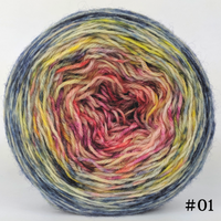 Knitcircus Yarns: Easy Peasy Lemon Squeezy 100g Impressionist Gradient, Breathtaking BFL, choose your cake, ready to ship yarn