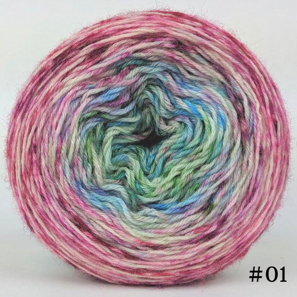 Knitcircus Yarns: Knit Your Best Life 100g Impressionist Gradient, Breathtaking BFL, choose your cake, ready to ship yarn