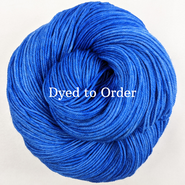 Knitcircus Yarns: Blue Radley Kettle-Dyed Semi-Solid skeins, dyed to order yarn