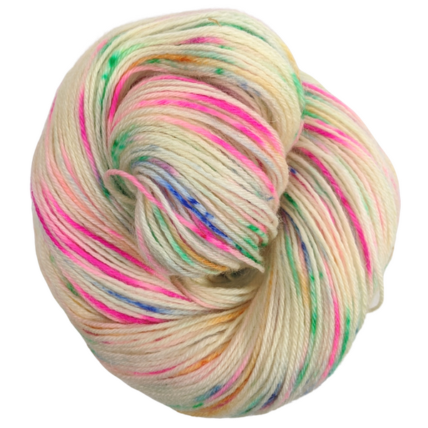Knitcircus Yarns: Hip Hip Hooray 100g Speckled Handpaint skein, Breathtaking BFL, ready to ship yarn