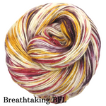 Knitcircus Yarns: Leaf Pile Leap Speckled Handpaint Skeins, dyed to order yarn