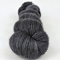Knitcircus Yarns: Fade to Black 100g Kettle-Dyed Semi-Solid skein, Breathtaking BFL, ready to ship yarn
