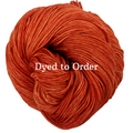Knitcircus Yarns: Rhymes With Orange Kettle-Dyed Semi-Solid skeins, dyed to order yarn