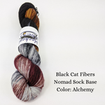 Nomad Sock by Black Cat Fibers, assorted colors, ready to ship